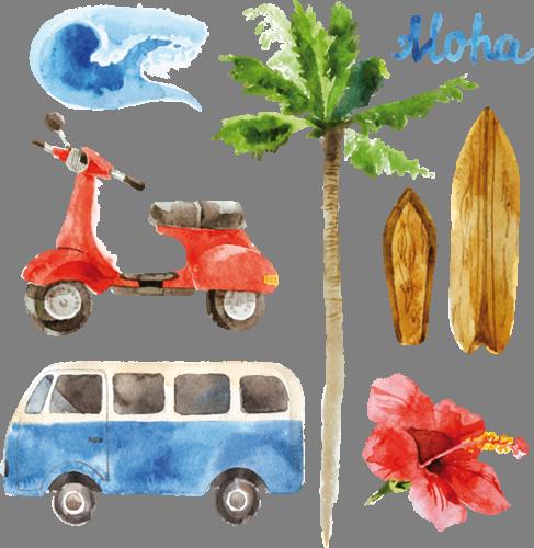 Наклейка «Moha»Путешествия<br><br>