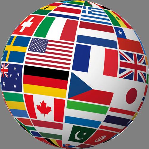 Наклейка «Флаги»Путешествия<br><br>