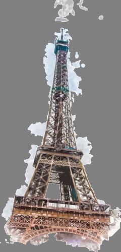 Наклейка «Эйфелева башня»Путешествия<br>Цветная интерьерная наклейка на виниле. Яркая и красивая! Можно сделать любой размер. Трехслойная надежная упаковка. Доставим в любую точку России.<br>