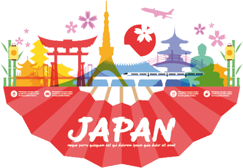 Наклейка «Япония»Путешествия<br><br>