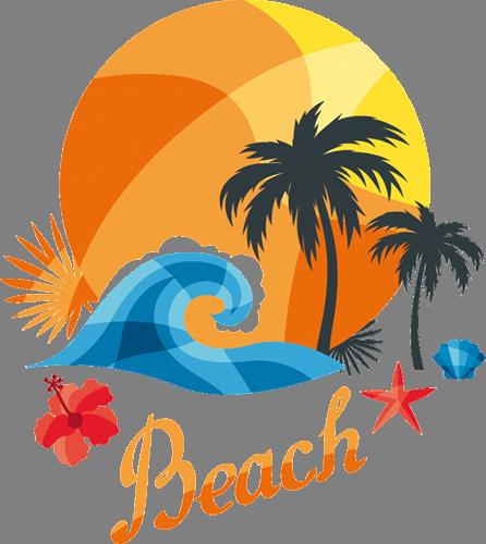 Наклейка «Пляж»Путешествия<br>Цветная интерьерная наклейка на виниле. Яркая и красивая! Можно сделать любой размер. Трехслойная надежная упаковка. Доставим в любую точку России.<br>