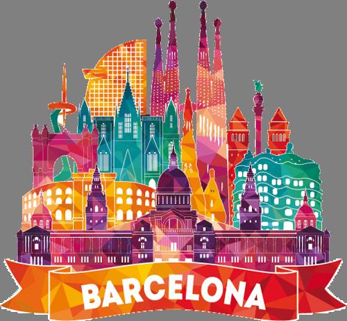 Наклейка «Барселона»Путешествия<br><br>