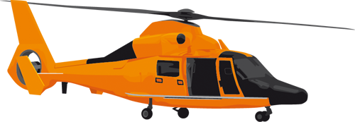 Наклейка «Жёлтый вертолёт»