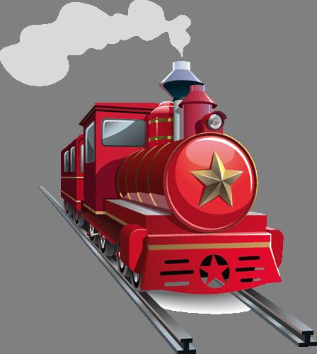 Наклейка «Красный паровоз»Транспорт<br><br>