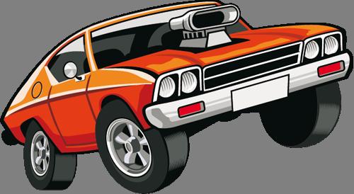 Наклейка «Оранжевое авто»Транспорт<br><br>