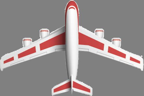Наклейка «Бело-красный самолёт»Транспорт<br>Цветная интерьерная наклейка на виниле. Яркая и красивая! Можно сделать любой размер. Трехслойная надежная упаковка. Доставим в любую точку России.<br>