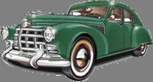 Наклейка «Зелёный ретромобиль»Транспорт<br><br>