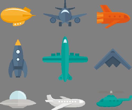 Наклейка «Летательные аппараты»