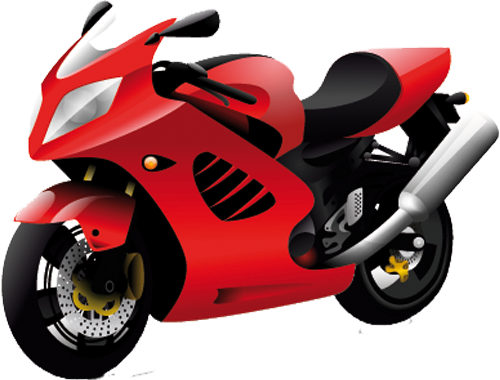 Наклейка «Красный скутер»Транспорт<br><br>
