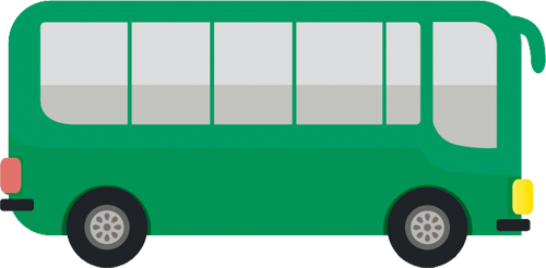 Наклейка «Зелёный автобус»Транспорт<br><br>
