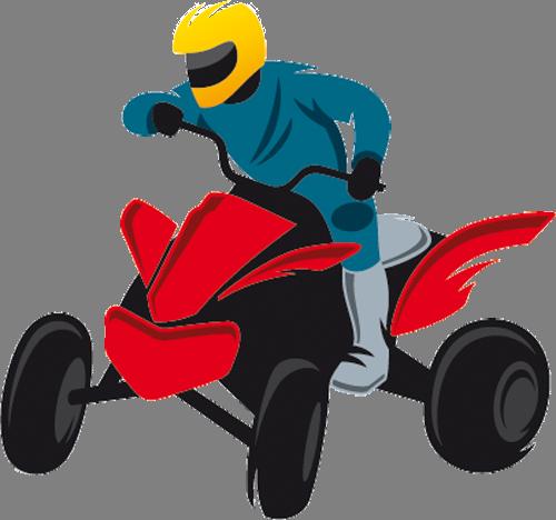 Наклейка «Квадроциклист»Транспорт<br><br>