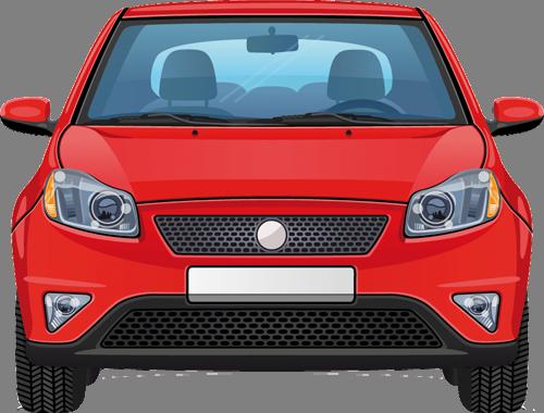 Наклейка «Красная машина»