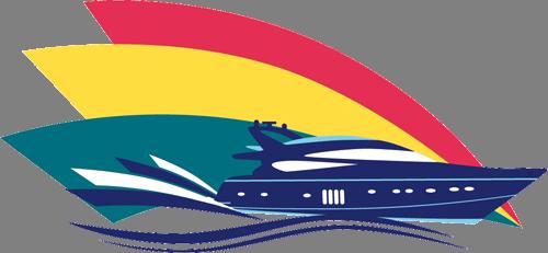 Наклейка «Катер на волнах»Транспорт<br><br>