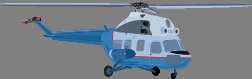 Наклейка «Голубой вертолёт»Транспорт<br><br>