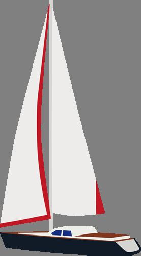Наклейка «Белый парус»