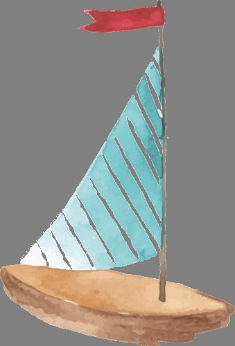 Наклейка «Полосатый парусник»