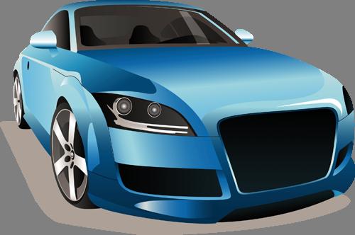 Наклейка «Голубое авто»