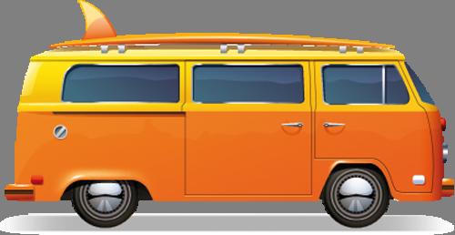 Наклейка «Оранжевый автобус»Транспорт<br>Цветная интерьерная наклейка на виниле. Яркая и красивая! Можно сделать любой размер. Трехслойная надежная упаковка. Доставим в любую точку России.<br>