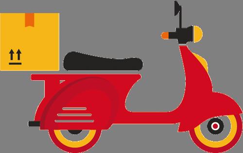 Наклейка «Красный мопед»Транспорт<br><br>