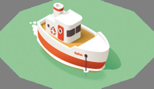 Наклейка «Кораблик»Транспорт<br>Цветная интерьерная наклейка на виниле. Яркая и красивая! Можно сделать любой размер. Трехслойная надежная упаковка. Доставим в любую точку России.<br>