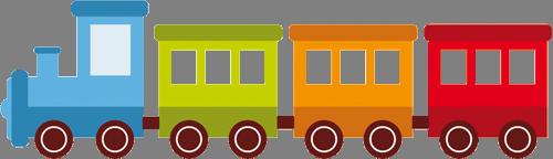 Наклейка «Разноцветный паровоз»Транспорт<br><br>
