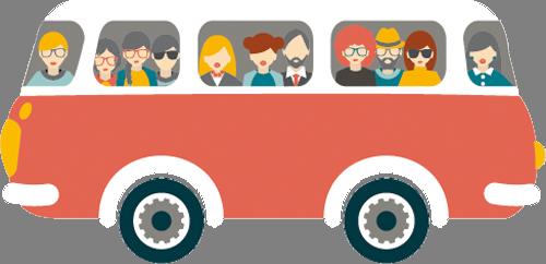 Наклейка «Пассажирский автобус»Транспорт<br><br>