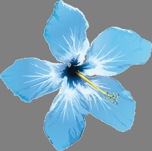 Наклейка «Голубой цветок»Цветы<br><br>