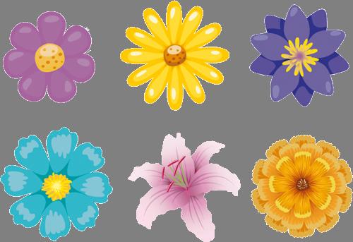 Наклейка «Шесть цветов»Цветы<br><br>