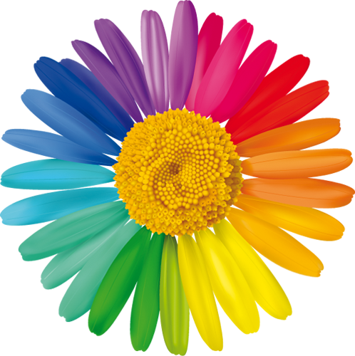 Наклейка «Разноцветная ромашка»Цветы<br>Цветная интерьерная наклейка на виниле. Яркая и красивая! Можно сделать любой размер. Трехслойная надежная упаковка. Доставим в любую точку России.<br>