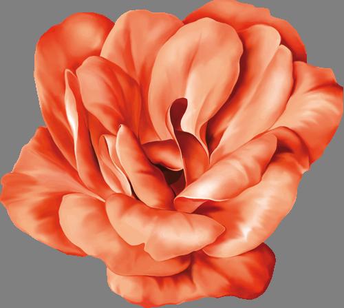 Наклейка «Красный цветок»Цветы<br>Цветная интерьерная наклейка на виниле. Яркая и красивая! Можно сделать любой размер. Трехслойная надежная упаковка. Доставим в любую точку России.<br>