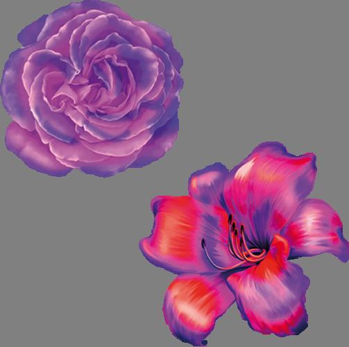 Наклейка «Пара цветов»Цветы<br><br>