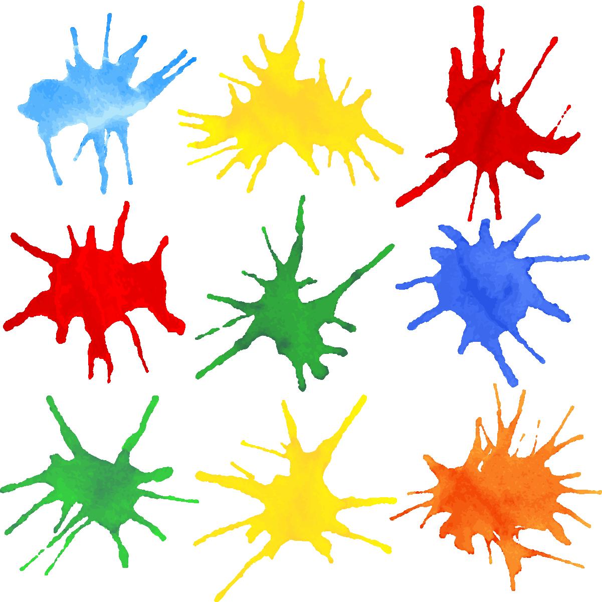 Наклейка «Разноцветные брызги»Кляксы<br><br>