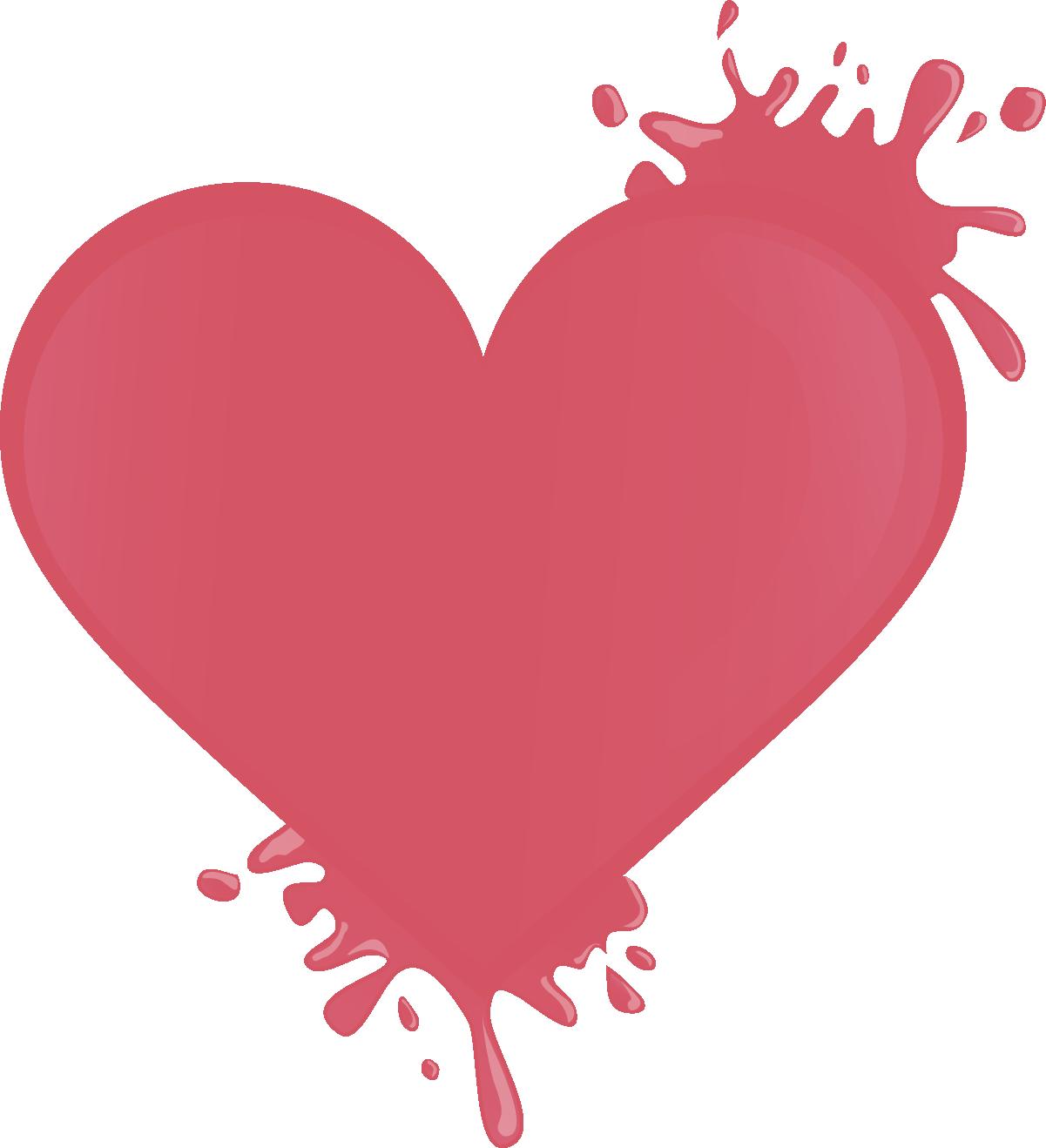 Наклейка «Красная клякса в форме сердца»Кляксы<br><br>