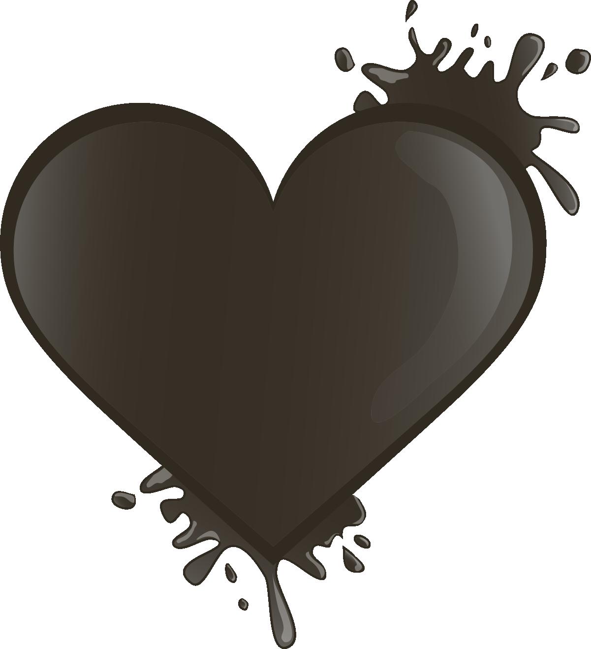 Наклейка «Черная клякса в форме сердца»Кляксы<br><br>
