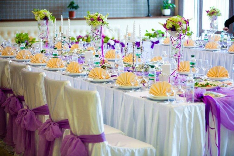 Как украшать залы для свадьбы