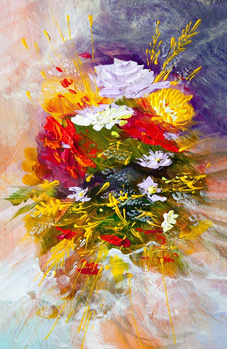 """Постер Цветы """"Постер 115094765-510316"""", 20x31 см, на бумаге от Artwall"""