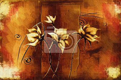 """Постер Цветы """"Постер 118458467-510316"""", 30x20 см, на бумаге от Artwall"""