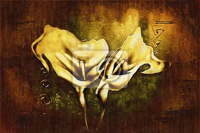 """Постер Цветы """"Постер 118458525-510316"""", 30x20 см, на бумаге от Artwall"""
