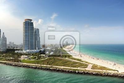 """Постер Города и карты """"Майами-Бич, Флорида"""", 30x20 см, на бумаге от Artwall"""
