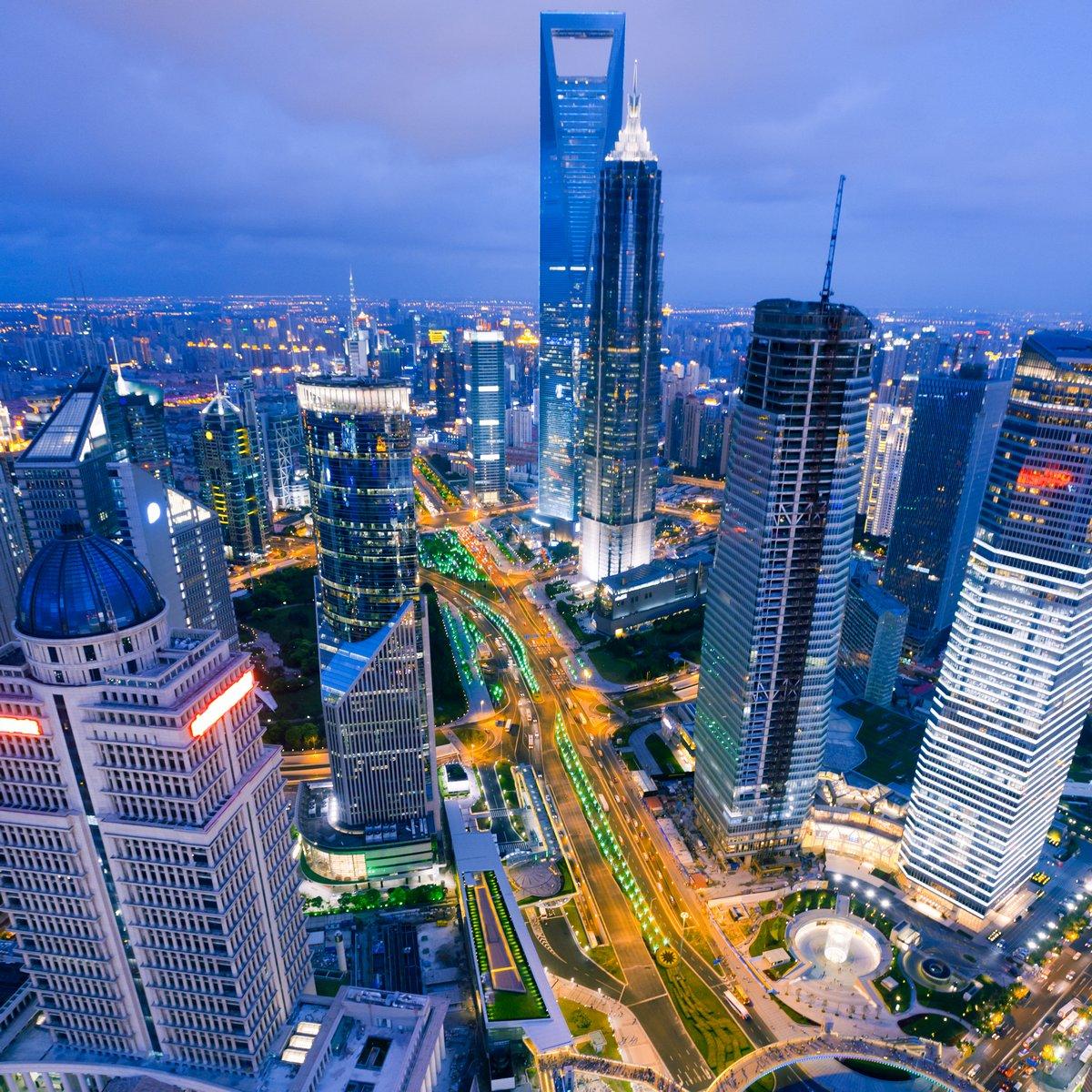 """Постер Города и карты """"Шанхай"""", 20x20 см, на бумаге от Artwall"""