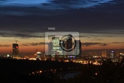 "Постер Города и карты ""Москва-Сити на закате"", 30x20 см, на бумаге от Artwall"