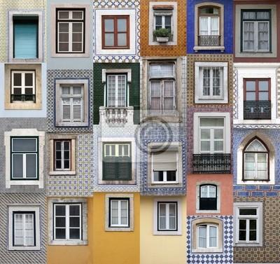 """Постер Города и карты """"Лиссабон windows"""", 21x20 см, на бумаге от Artwall"""