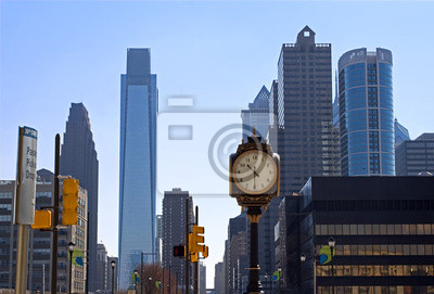 """Постер Города и карты """"Филадельфия Skyline с 30-Стрит"""", 30x20 см, на бумаге от Artwall"""