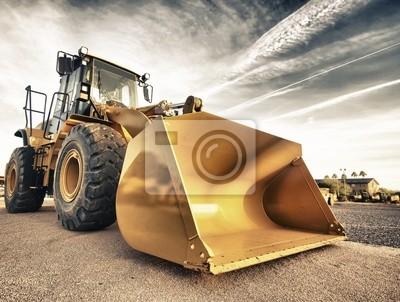 """Постер """"Промышленное строительство оборудование бульдозера"""", 26x20 см, на бумаге от Artwall"""