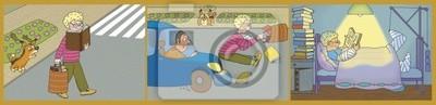 """Постер Оформление детской """"Постер 36369452"""", 82x20 см, на бумаге от Artwall"""