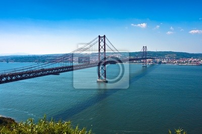 "Постер Города и карты ""Лиссабон Моста - 25 апреля, Старый Салазар Мост, Португалия"", 30x20 см, на бумаге от Artwall"