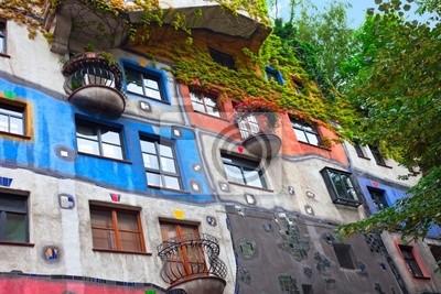 """Постер Города и карты """"Дом Хундертвассера в Вене, Австрия."""", 30x20 см, на бумаге от Artwall"""