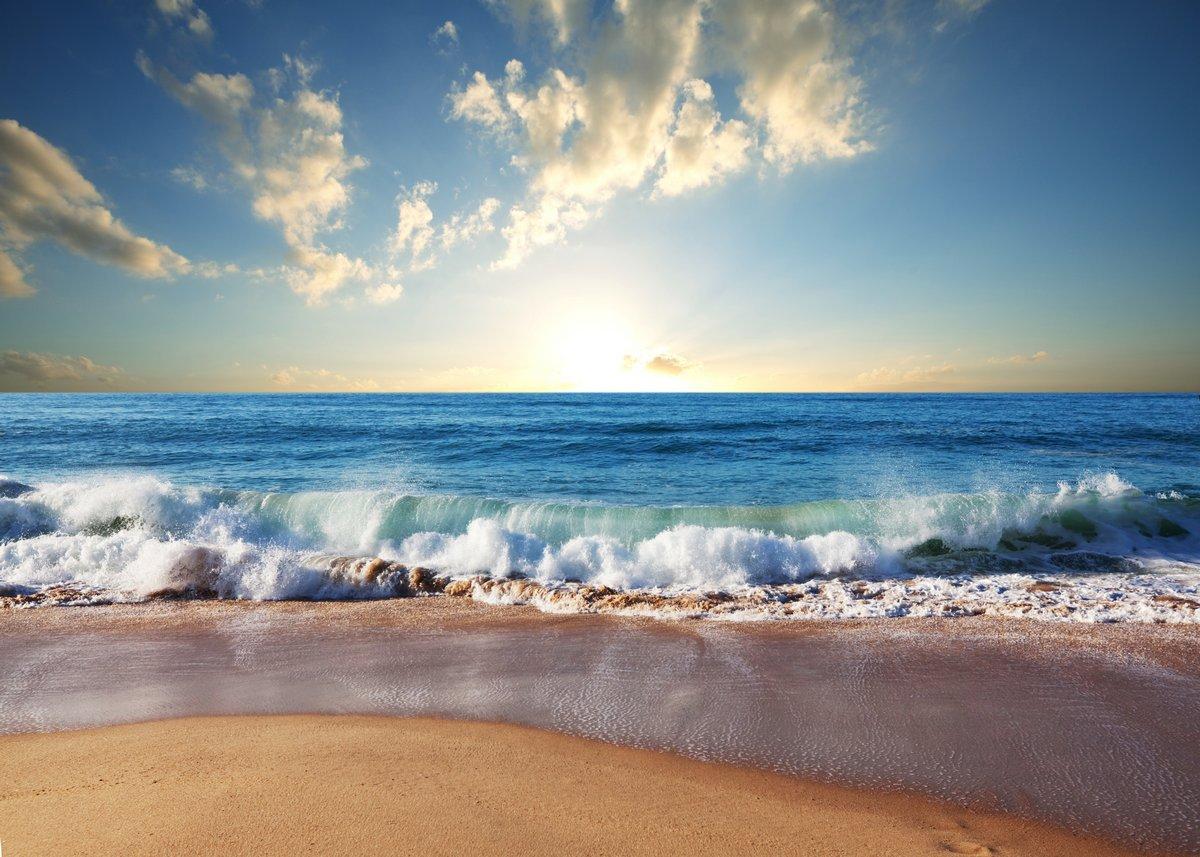 """Авторский постер Лимитированные принты """"Море закат"""", 28x20 см, на бумаге от Artwall"""