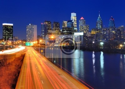 """Постер Города и карты """"Филадельфия, Центр Города"""", 28x20 см, на бумаге от Artwall"""