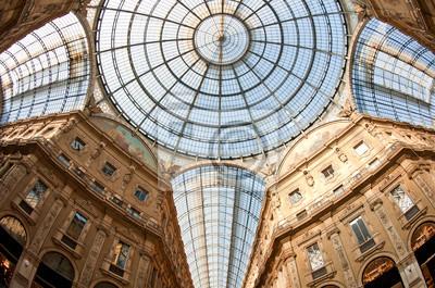 """Постер Города и карты """"Vittorio Emanuele II торговая галерея. Милан, Италия."""", 30x20 см, на бумаге от Artwall"""